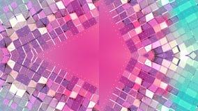 Abstrakter einfacher Hintergrund 3D in der roten Türkissteigungsfarbe, niedrige Polyart als moderner geometrischer Hintergrund od lizenzfreie abbildung