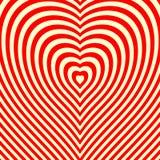 Abstrakter endloser Herzhintergrund Optische Illusion Stockfotos