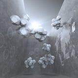 Abstrakter Entwurf 3d für Wolkenvernetzungs-Computerkonzept Lizenzfreies Stockfoto