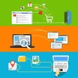 Abstrakter Entwurf der modernen Netztätigkeiten Lizenzfreies Stockfoto