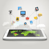 Abstrakter Entwurf des modernen Computernetzwerks Stockfoto
