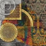 Abstrakter Entwurf, spielt metallische geometrische Formen die Hauptrolle lizenzfreie stockfotos