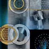Abstrakter Entwurf, spielt metallische geometrische Formen die Hauptrolle lizenzfreies stockbild