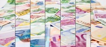 Abstrakter Eurobargeldhintergrund Lizenzfreies Stockfoto