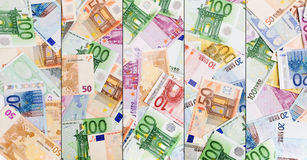 Abstrakter europäischer Bargeldhintergrund Lizenzfreie Stockbilder