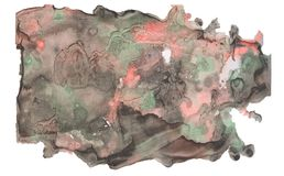 Abstrakter fantastischer Aquarellfleck mit spritzt und beschmutzt Lizenzfreie Stockfotografie