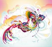 Abstrakter Farbenaufbau Stockfoto