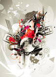 Abstrakter Farbenaufbau Lizenzfreies Stockfoto