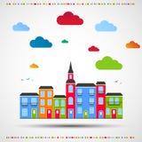 Abstrakter Farbenhintergrund Stadtthema Stockbild