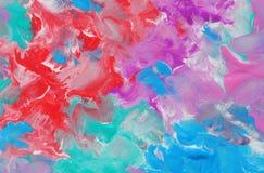 Abstrakter Farbenmarmorierunghintergrund des roten Blaus Farb Abstrakter Hintergrund für Auslegunggestaltungsarbeiten Stockbild