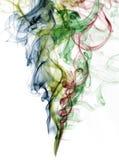 Abstrakter Farbenrauch vom weißen Hintergrund Lizenzfreies Stockbild