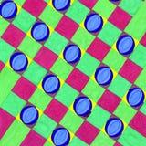 Abstrakter farbiger geometrischer Hintergrund der Gouache lizenzfreie abbildung