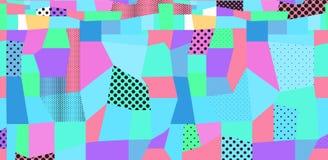 Abstrakter farbiger Hintergrund von den Punkten und von den geometrischen Formen vektor abbildung