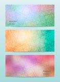 Abstrakter Farbsatz-Fahnenhintergrund Lizenzfreies Stockbild