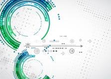 Abstrakter Farbtechnologiehintergrund/Computertechnologiegeschäft stock abbildung