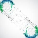 Abstrakter Farbtechnologiehintergrund/Computertechnologiegeschäft Stockfoto