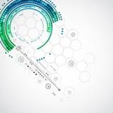 Abstrakter Farbtechnologiehintergrund/Computertechnologiegeschäft Stockbild