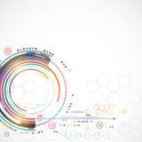 Abstrakter Farbtechnologiehintergrund/Computertechnologiegeschäft Lizenzfreie Stockbilder