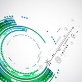 Abstrakter Farbtechnologiehintergrund/Computertechnologiegeschäft Stockfotografie