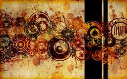 Abstrakter Faux-Papier Grunge Hintergrund stock abbildung