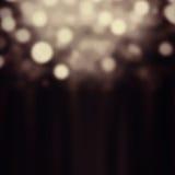 Abstrakter festlicher Hintergrund Funkelnweinlese beleuchtet Hintergrund w Lizenzfreie Stockfotografie