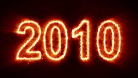 Abstrakter Feuercountdown vom Jahr 2000 zum neuen Jahr 2019 lizenzfreie abbildung