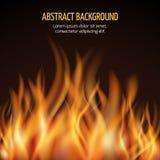 Abstrakter Feuerflammen-Vektorhintergrund lizenzfreie abbildung