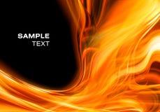 Abstrakter Feuerhintergrund Stockfotos