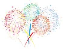 abstrakter Feuerwerkshintergrund des Vektors Lizenzfreies Stockfoto