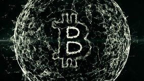 Abstrakter finanziellhintergrund, bitcoin im Geschäftsbereich des digitalen Geldes, Währung, Austausch, Finanzierung, Markt, lizenzfreie abbildung