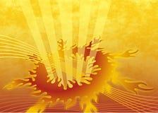 Abstrakter Flammehintergrund Stockfoto