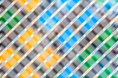 Abstrakter flockiger Hintergrund mit verschiedenen Farben. Stockbilder