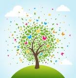 Abstrakter Frühlingszeitbaum vektor abbildung