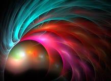 Abstrakter Fractal-Hintergrund Stockbild