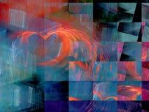 Abstrakter Fractal-Hintergrund lizenzfreie stockfotos