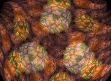 Abstrakter Fractal-Hintergrund Stockfotos