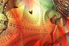 Abstrakter Fractal-Hintergrund Lizenzfreie Stockbilder