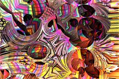 Abstrakter Fractal-Hintergrund Lizenzfreies Stockbild