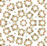 Abstrakter Fractalhintergrund - Herbstblätter Stockfotografie