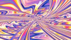 Abstrakter Fractaltunnel stock footage