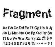 Abstrakter Fragmentschrifttyp Stockfotografie