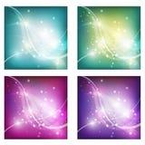Abstrakter Frischehintergrund mit glänzendem bokeh Stockfotografie