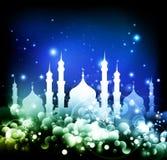 Abstrakter frommer moslemischer Hintergrund stock abbildung