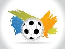 Abstrakter Fußballhintergrund mit colorfull grunge Stockbild