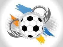 Abstrakter Fußballhintergrund mit florals Lizenzfreies Stockfoto