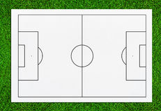 Abstrakter Fußballplatz- oder Fußballplatzhintergrund für schaffen so Lizenzfreie Stockbilder
