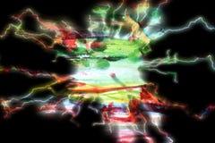 Abstrakter funkelnder lightining Hintergrund Stockfoto