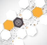 Abstrakter futuristischer Computertechnologie-Geschäftshintergrund Stockfotos