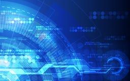 Abstrakter futuristischer Digitaltechnikhintergrund Illustration Vektor Stockfoto