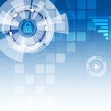 Abstrakter futuristischer Digitaltechnikhintergrund Illustration Vektor Lizenzfreies Stockfoto